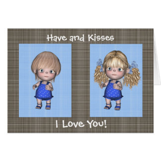 Feliz aniversario dos gêmeos dos abraços e dos bei cartao