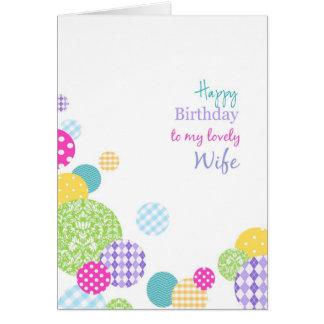 Feliz aniversario dos pontos coloridos a minha esp cartões