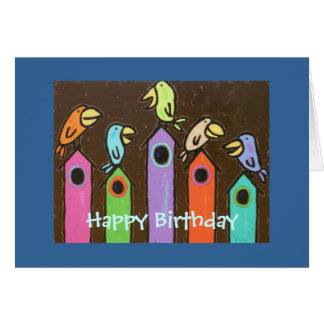 Feliz aniversario dtodos nós cartão
