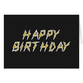 Feliz aniversario elétrico cartão comemorativo
