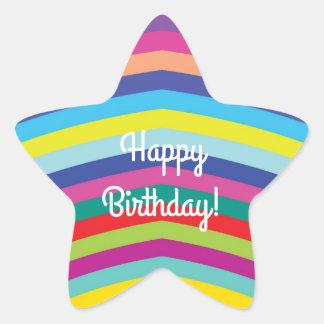 Feliz aniversario - etiqueta da estrela