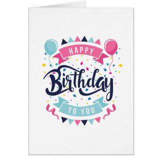Feliz aniversário foto opcional do cartão