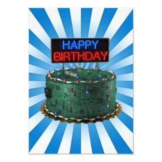 Feliz aniversario, geek convite 12.7 x 17.78cm