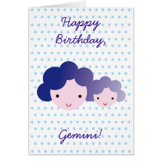Feliz aniversario, Gêmeos! Cartão