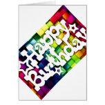 Feliz Aniversário - Happy Birthday Cartão Comemorativo