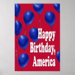 Feliz aniversario, impressão de América