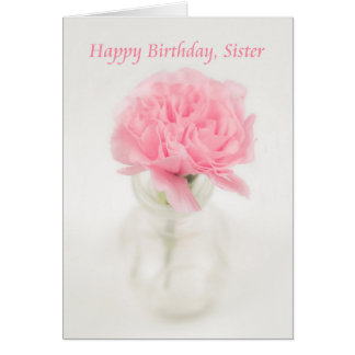 Feliz aniversario irmã cartão