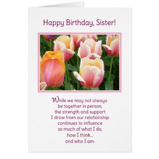 Feliz aniversario, irmã! cartao