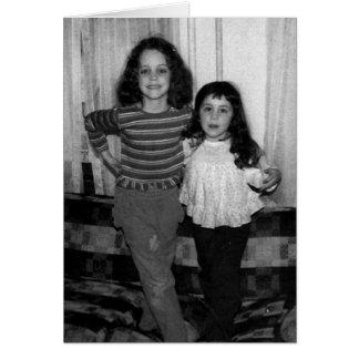 Feliz aniversario - irmã cartão comemorativo