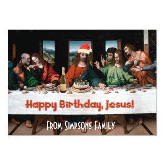 Feliz aniversario, Jesus! Convite engraçado do Convite 12.7 X 17.78cm
