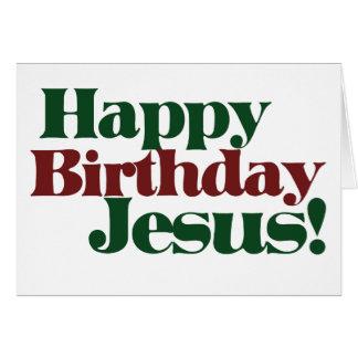 Feliz aniversario Jesus é Natal Cartão