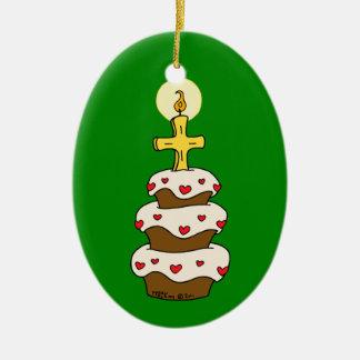 Feliz aniversario Jesus Enfeites Para Arvore De Natal