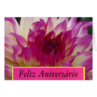 Feliz Aniversário - La Dalia Púrpura Cartão Comemorativo