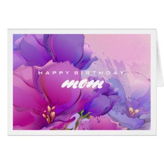 Feliz aniversario, mamã. Cartões da pintura da