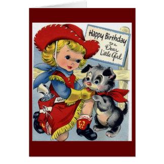 Feliz aniversario - menina cartão comemorativo