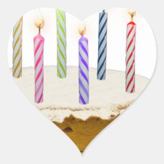 Feliz aniversario, meu amor adesivo coração