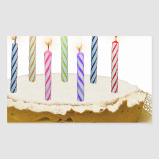 Feliz aniversario, meu amor adesivo retangular