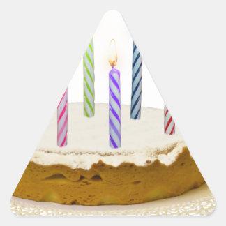 Feliz aniversario, meu amor adesivo triangular