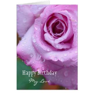 Feliz aniversario meu amor cartão comemorativo