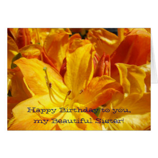 Feliz aniversário minha irmã bonita Cartões