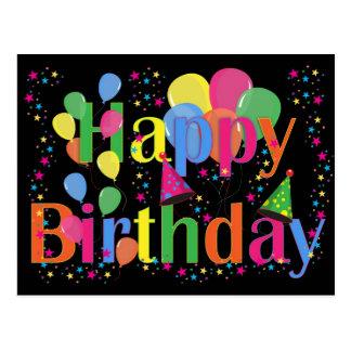 Feliz aniversario - multi cor dos balões - cartão