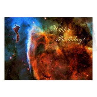 Feliz aniversario - nebulosa do buraco da cartão