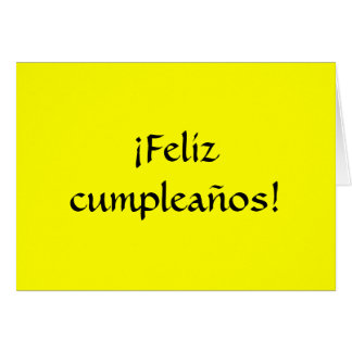Feliz aniversario no espanhol! cartão