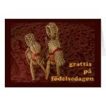 Feliz aniversario no sueco cartao