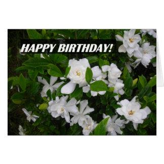 Feliz aniversario NoteCard que caracteriza flores Cartão De Nota