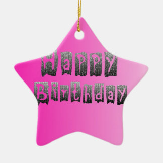 Feliz aniversario enfeites de natal
