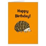 Feliz aniversario! (ouriço) cartão