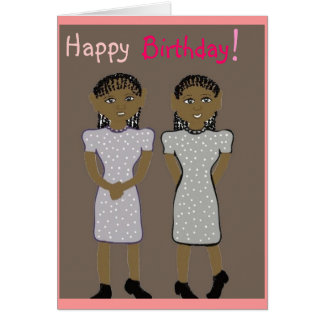 Feliz aniversario para o cartão dos gêmeos
