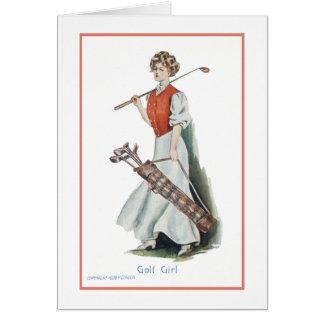 Feliz aniversario para um jogador de golfe da cartão de nota