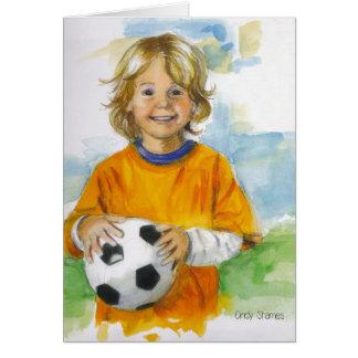 Feliz aniversario para um menino especial cartão de nota