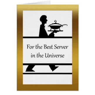 Feliz aniversario para um servidor favorito, cartão comemorativo