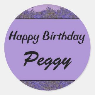 Feliz aniversario Peggy Adesivo