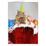 Feliz aniversario pouco Chipmunk Cartões