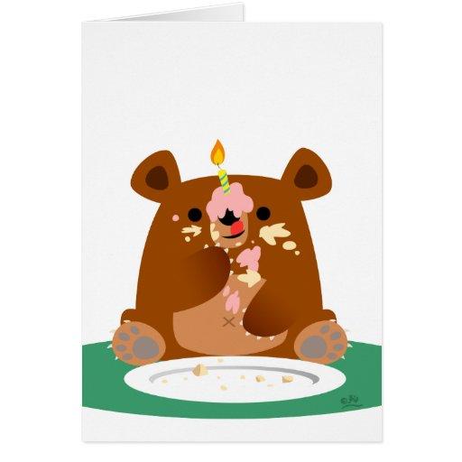 Feliz aniversario pouco urso! cartão