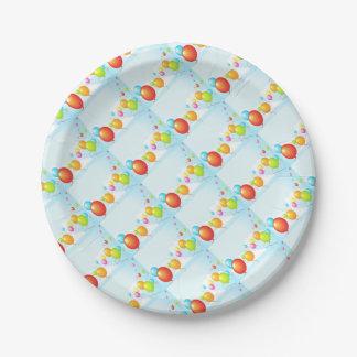 Feliz aniversario prato de papel