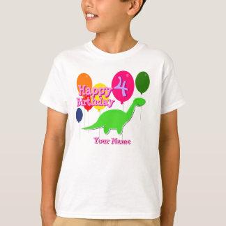 Feliz aniversario quatro do balão anos de TShirt