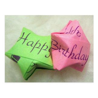 Feliz aniversario que deseja o cartão da estrela