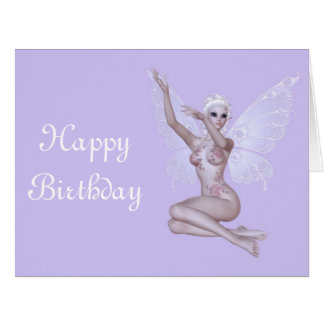 """Feliz aniversario """"sexy"""" do país das fadas mágico  cartão comemorativo grande"""