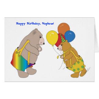 Feliz aniversario, sobrinho! cartão comemorativo