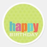Feliz aniversario Sticker2 Adesivo Redondo