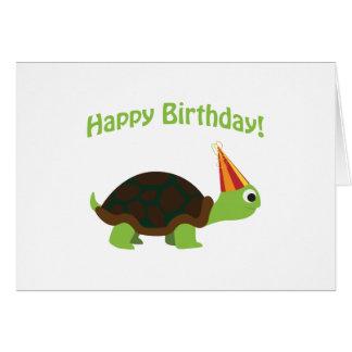 Feliz aniversario Tartaruga Cartão