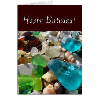 Feliz aniversario! Tesouros da praia dos cartões