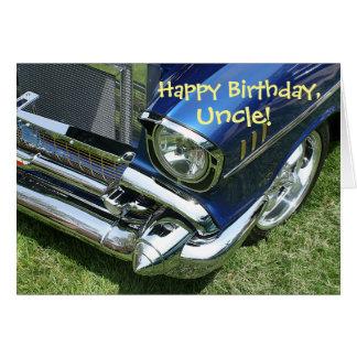"""""""Feliz aniversario, tio"""" cartão"""