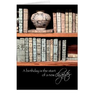 Feliz aniversario, um capítulo novo antes de você cartão