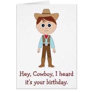 Feliz aniversario, vaqueiro para o neto cartão comemorativo