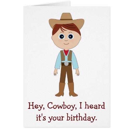 Feliz aniversario, vaqueiro para o neto cartão